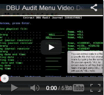 DBU Audit Menu