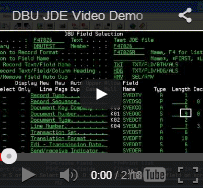 DBU JDE Video Demo