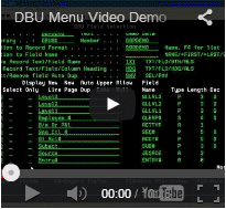 DBU Menu Video
