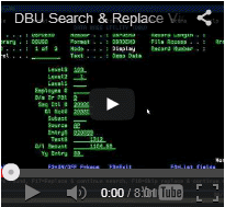 DBU Search & Replace Video Demo