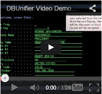 DBUnifier Application Demo
