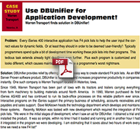 Use DBUnifier for Application Development